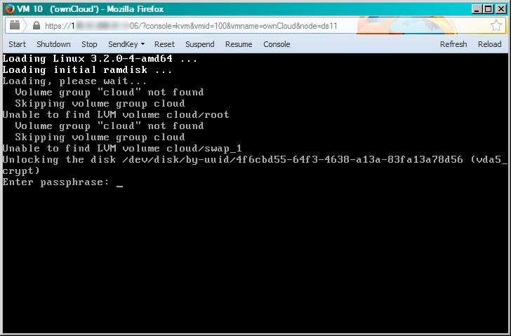 шифрованное хранилище данных owncloud - настройка
