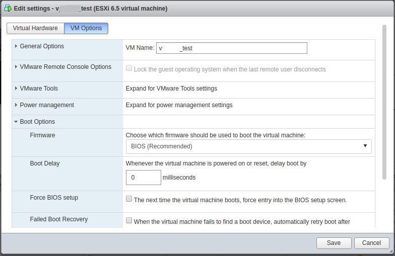 BIOS Settings WEB-интерфейс